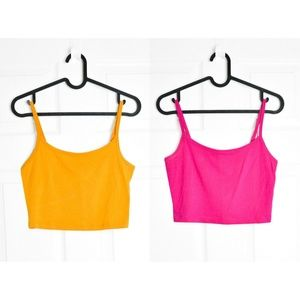 3/$30 🌞 SET OF 2 Forever 21 Crop Cami Sz M